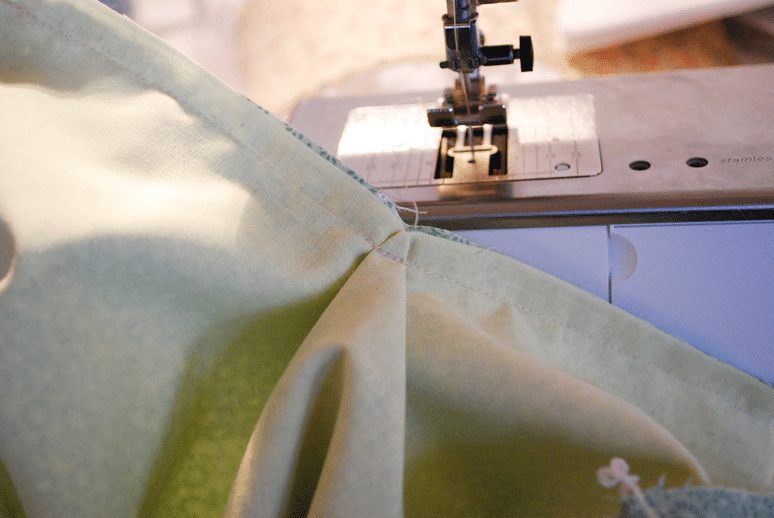 Middle cut on placket is sewn securely