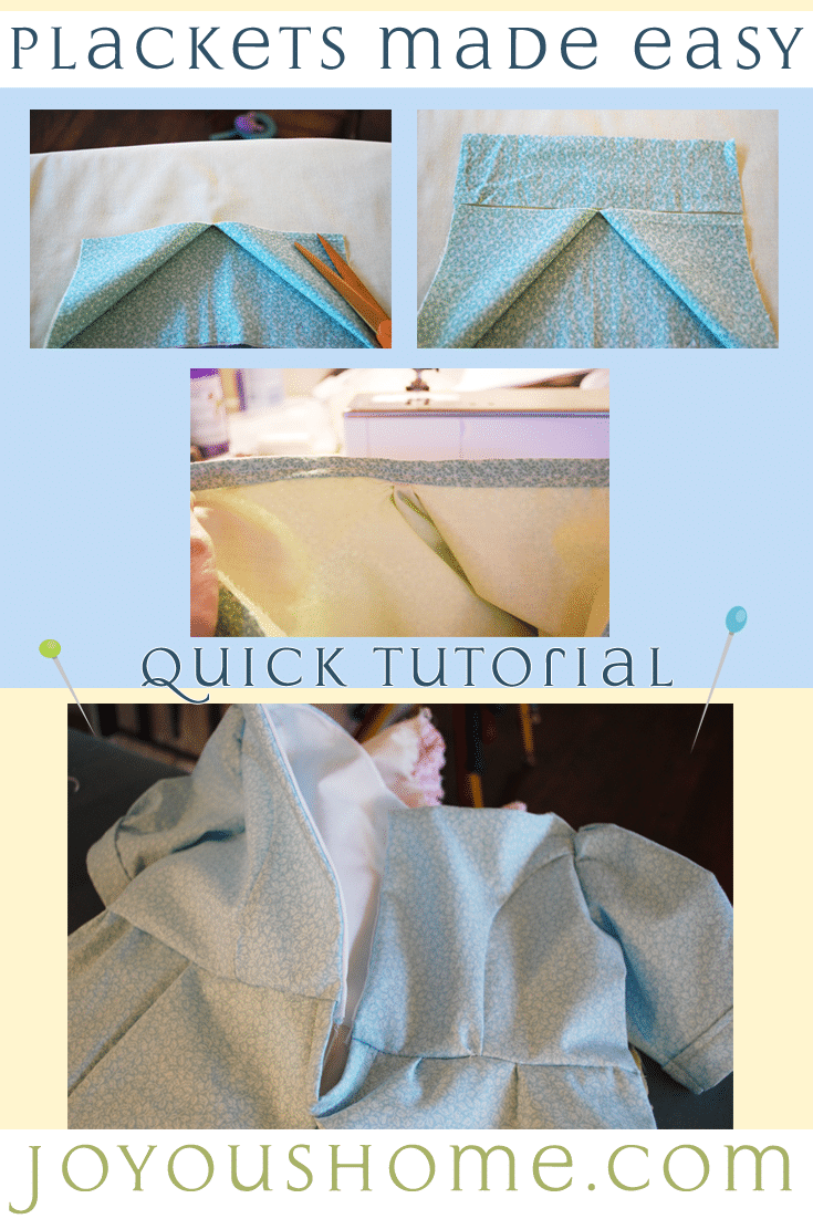 Plackets are not a mystery! With practice they are easy! I've made a quick tutorial using a dress. Feel free to ask questions!