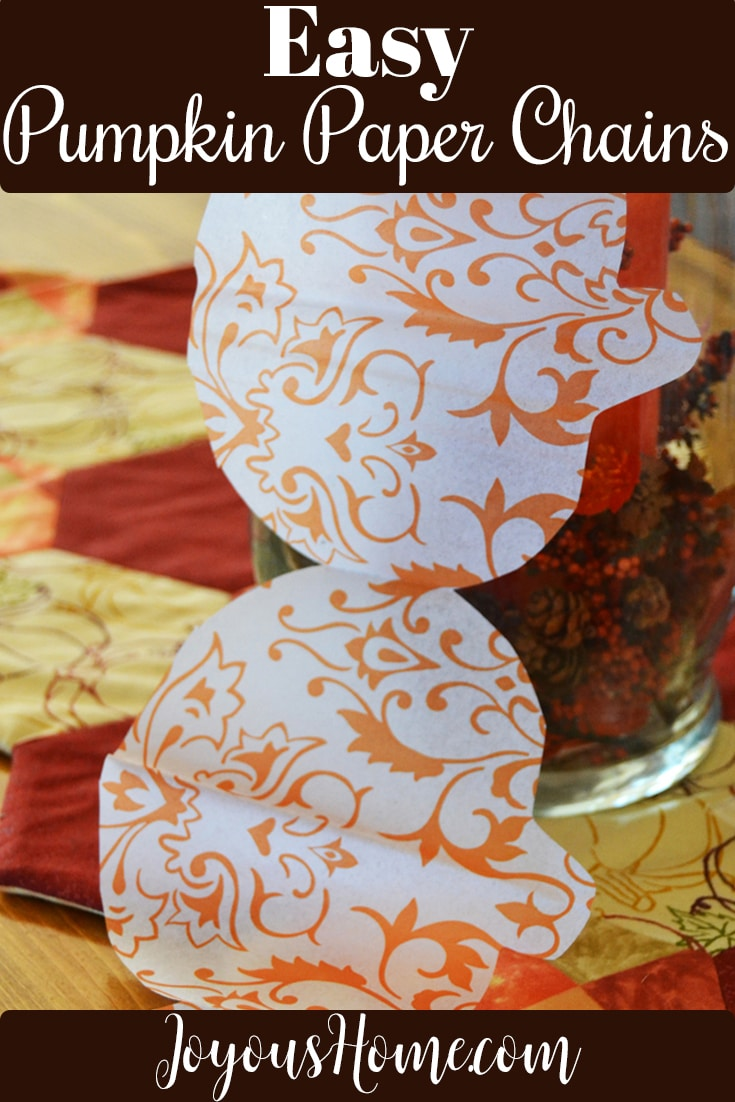Pumpkin Paper Chain