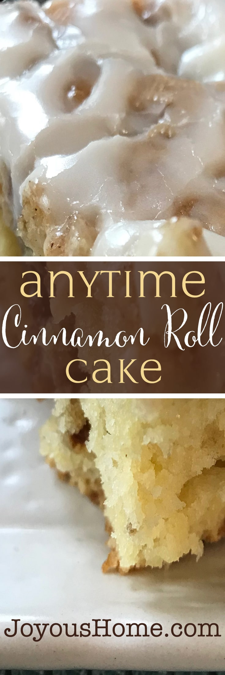 Anytime Cinnamon Roll Cake