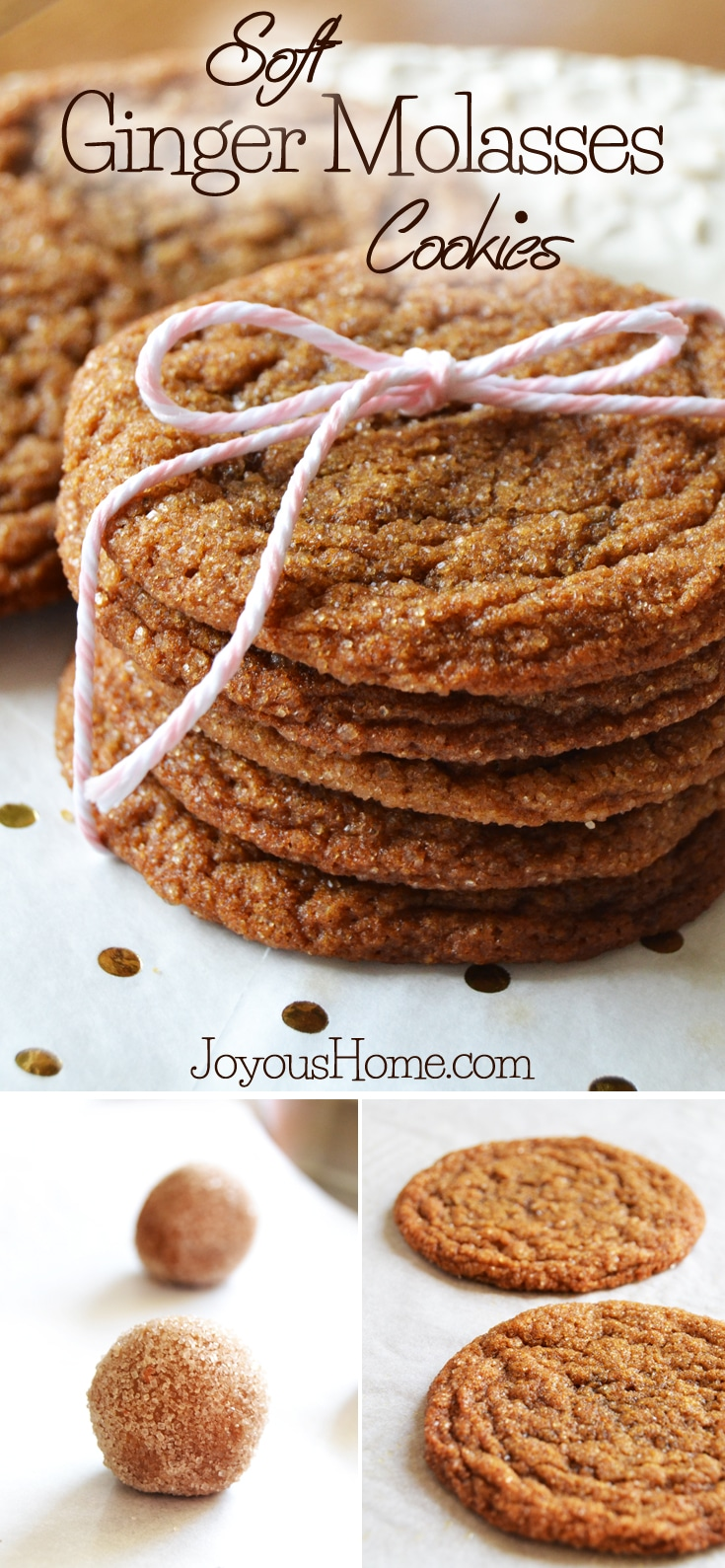 A perfect recipe for richly spiced, soft and chewy, cinnamon sugar covered ginger molasses cookies... my absolute favorite Christmas cookie!