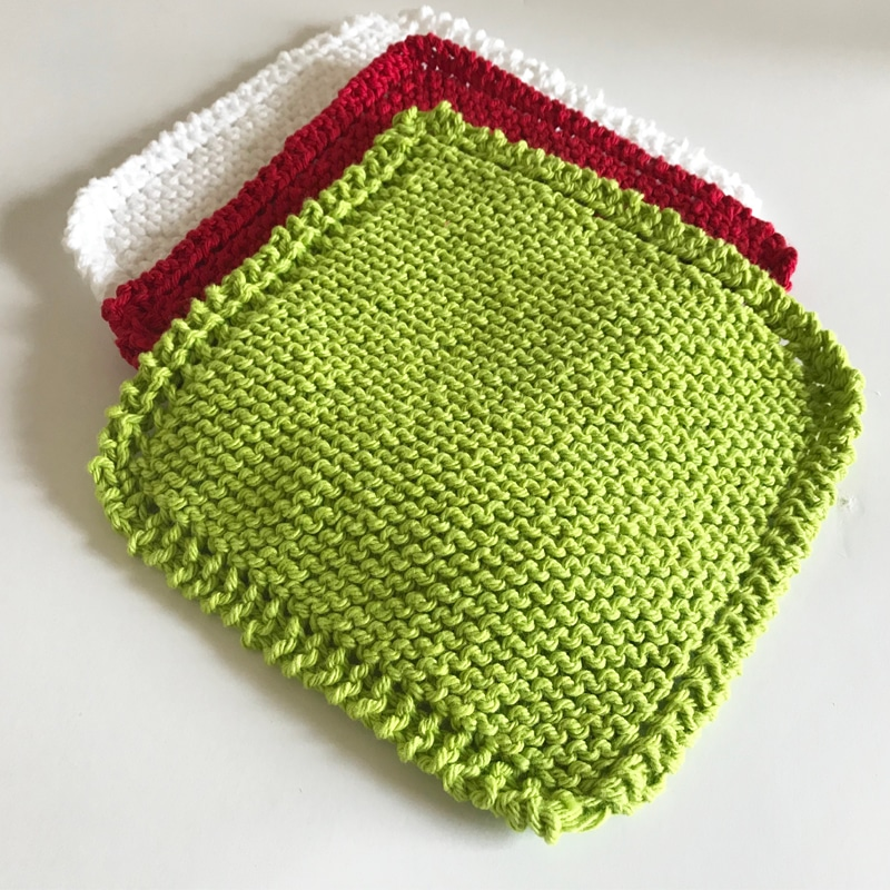 Feature Knitted Dishcloth - Video
