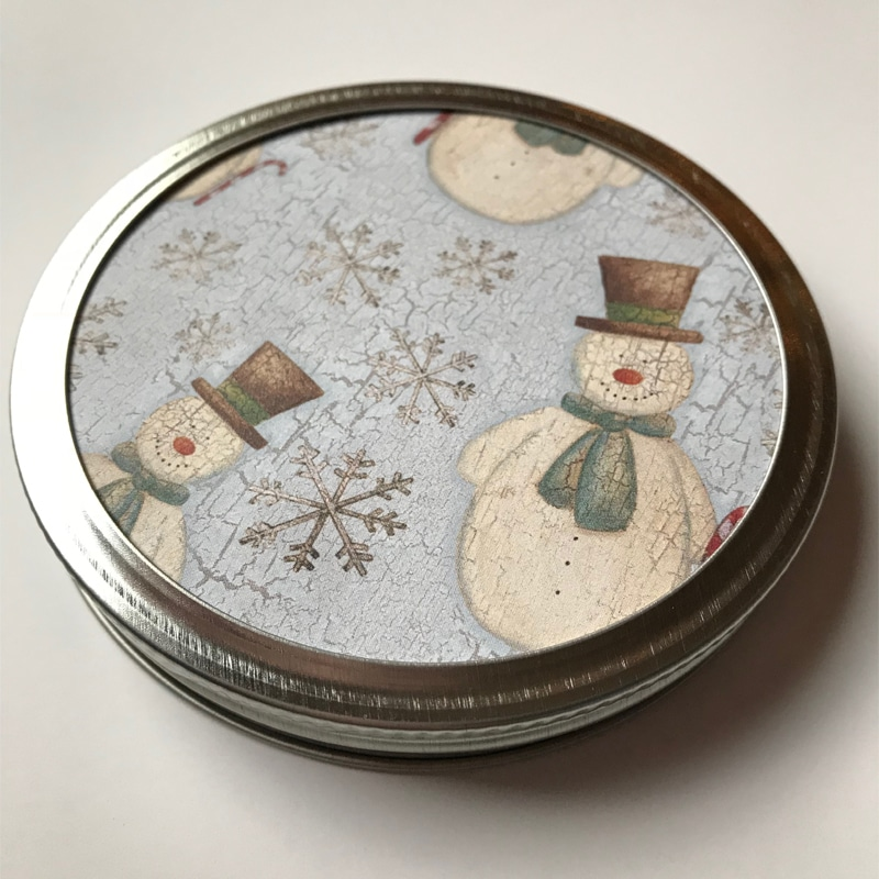 Recycled Recycled Mason Jar Lid Ornaments