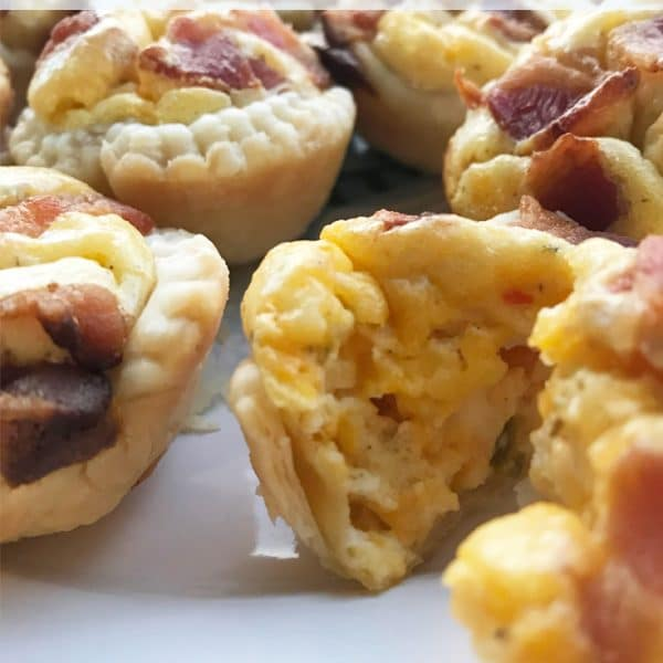 Spicy Cheese Bacon Tarts