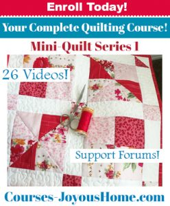 Mini-Quilt Course - Series 1