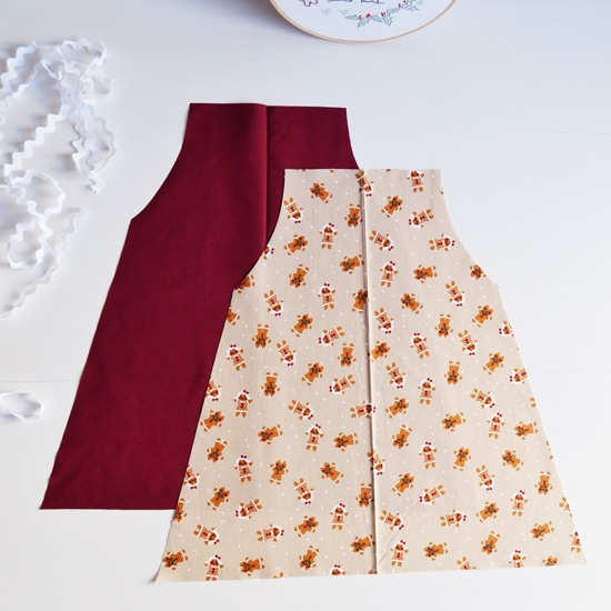 simple girls apron
