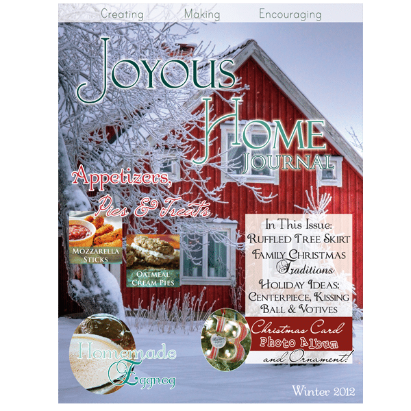 Winter Christmas Joyous Home Journal
