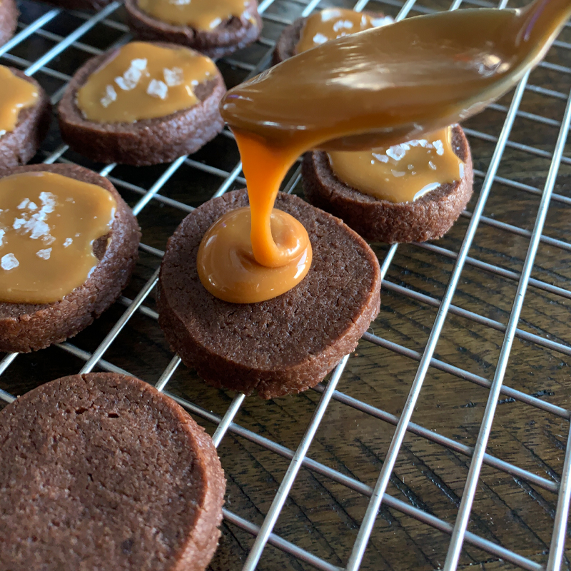 Salted Caramel Chocolate Butter Cookies