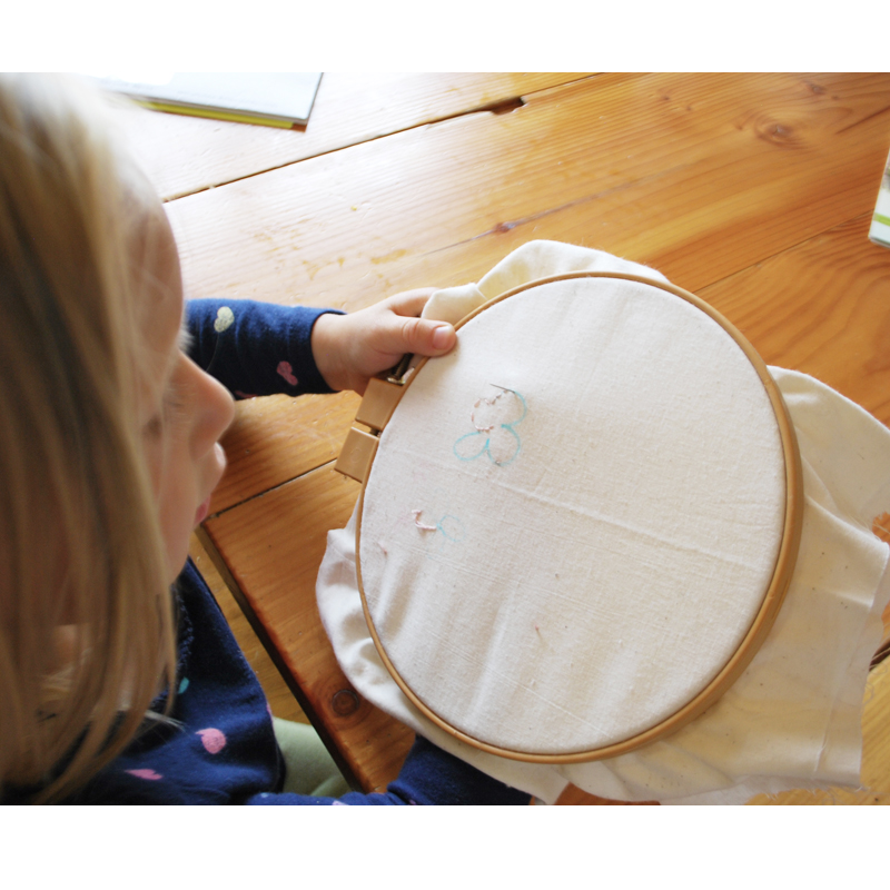 8 Hand Embroidery Stitches to Teach Your Girls - We started early teaching our girls how to stitch basic shapes. Your girls will love creating!
