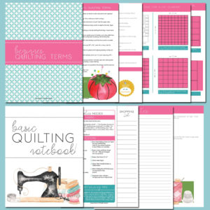 Quilting Notebook by Joyous Home