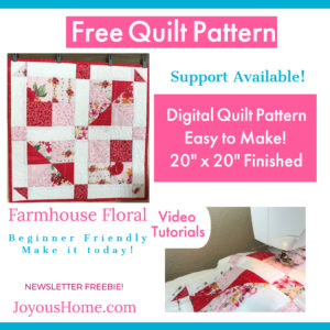 Free Quilt Pattern Download and Videos - Fat Quarter Friendly!