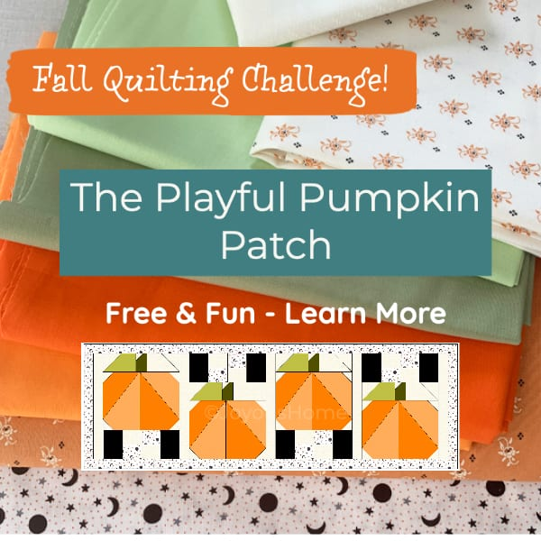 Playful Pumpkin Patch Quilting Challenge