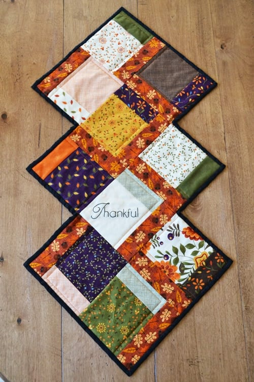 Free Fall Charm Table Runner Pattern