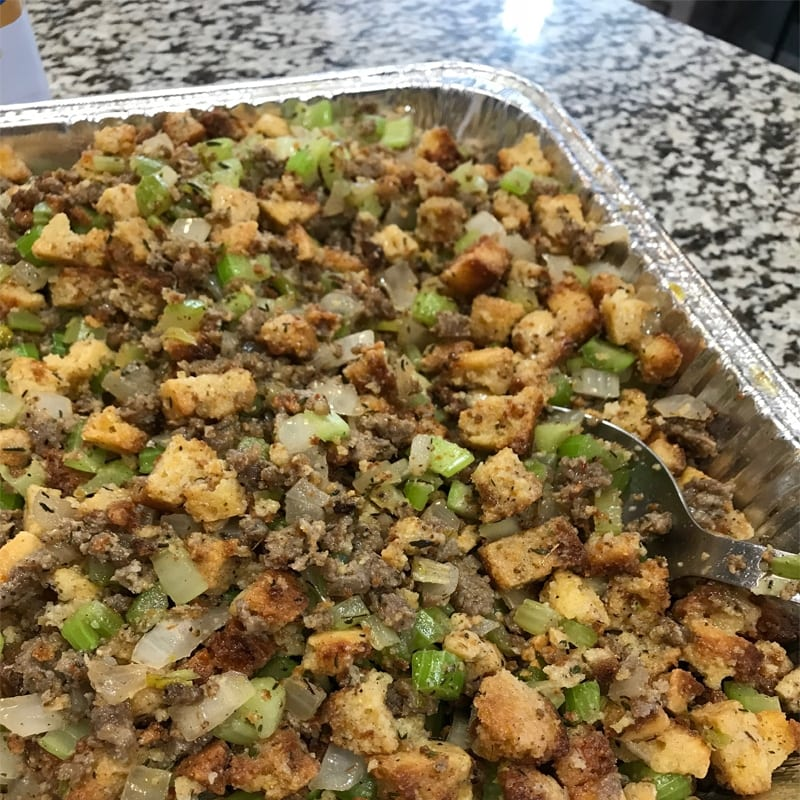 Fresh Homemade Cornbread Stuffing